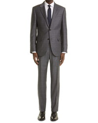 Ermenegildo Zegna Trofeo Plaid Wool Suit