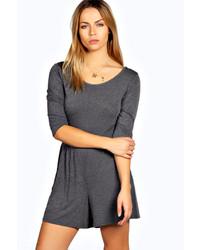 Boohoo Selina 34 Sleeve Jersey Playsuit