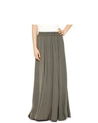 Charcoal Pleated Maxi Skirt