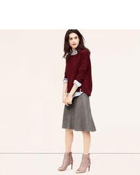 LOFT Petite Fluted Midi Skirt