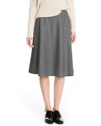 Mango Outlet Premium Flared Midi Skirt