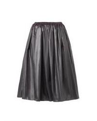 Christopher Kane Ruched Nylon Midi Skirt