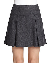 Charcoal Pleated Mini Skirt