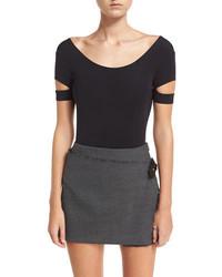 Houndstooth printed pleated mini skirt w frayed edges medium 4986005