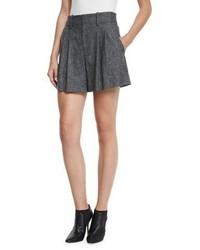 Eloise high waist double pleated shorts charcoal medium 3750322