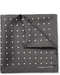 Turnbull & Asser Polka Dot Silk Pocket Square