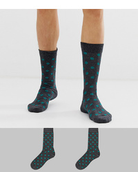 Selected Homme 2 Pack Socks Polka Dots