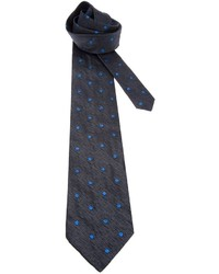 Fendi Vintage Embroidered Polka Dot Tie