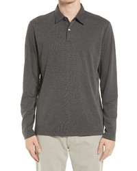 Theory Bron Lcurrent Long Sleeve Pique Polo
