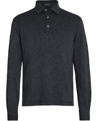 Ermenegildo Zegna Checked Knit Polo Shirt