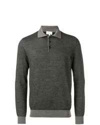 Brioni Chevron Pattern Polo Shirt