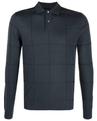 Emporio Armani Geometric Embroidered Polo Shirt