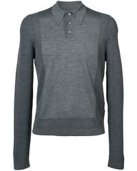 Maison Margiela Long Sleeve Knitted Polo Top