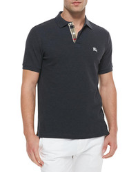 b2f42ca593d2 Men s Charcoal Polos by Burberry   Men s Fashion   Lookastic.com