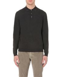 SLOWEAR Long Sleeved Wool Blend Polo Shirt