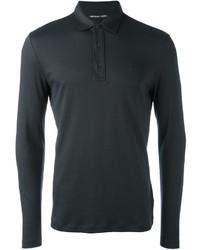 Michl kors longsleeved polo shirt medium 846242