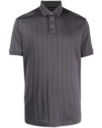 Emporio Armani Ribbed Knit Cotton Polo Shirt