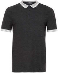 Topman Charcoal Barlow Polo Shirt