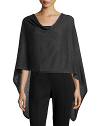 Minnie Rose Brushed Cotton Poncho Charcoal