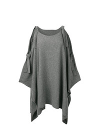 Cashmere In Love Cashmere Cape With Bow Ties