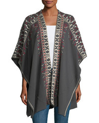 Issoria french terry blanket poncho plus size medium 5207892