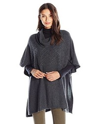 NYDJ Cable Cowl Neck Poncho Sweater