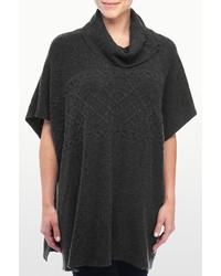 NYDJ Cable Knit Cowl Neck Poncho