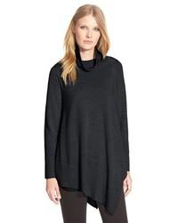 Eileen Fisher Poncho Style Merino Jersey Sweater