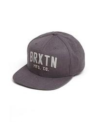 Brixton Arden Ii Snapback Baseball Cap Charcoal One Size