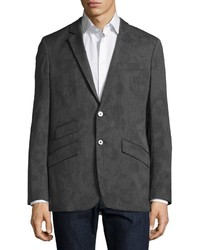 Robert Graham Splotch Print Birdseye Sport Coat Charcoal