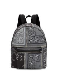 Amiri Grey Bandana Reconstruction Classic Backpack