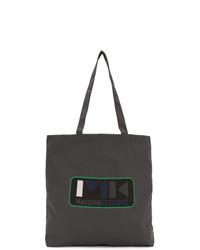 Charcoal Print Canvas Tote Bag