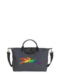 Longchamp Large Le Pliage Logo Travel Bag