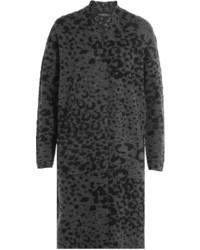 Animal print knit cardigan medium 824564