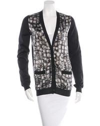 Lanvin Wool Silk Blend Printed Cardigan