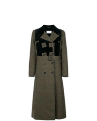 Maison Margiela Houndstooth Patterned Coat