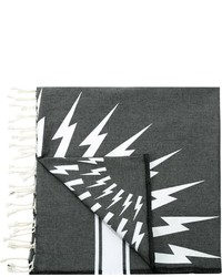 Neil Barrett Lightning Bolt Print Scarf