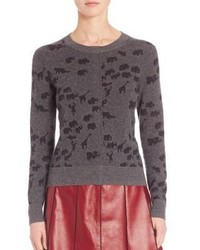 Marc Jacobs Animal Print Cashmere Sweater