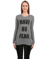 Haute Hippie Have No Fear Sweater In Grey