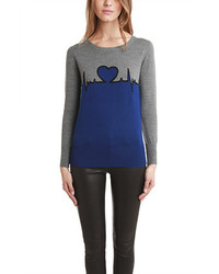 Heartbeat intarsia sweater medium 116994