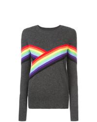 Madeleine Thompson Rainbow Stripe Detail Jumper