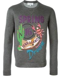 Salvatore Ferragamo Spring Dream Print Sweatshirt