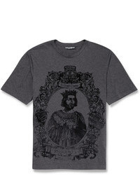 Charcoal Print Crew-neck T-shirt