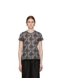 Tricot Comme des Garcons Black Lacy Jacquard Frill T Shirt