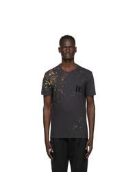Dolce and Gabbana Black Paint Splatter T Shirt