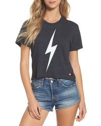 Aviator Nation Bolt Crop Tee