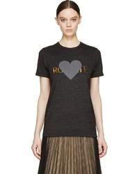 Rodarte Charcoal Gold Foil Rohearte T Shirt