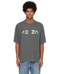 Kenzo Grey Oversize Logo T Shirt