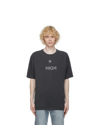 Ksubi Grey Washed High T Shirt