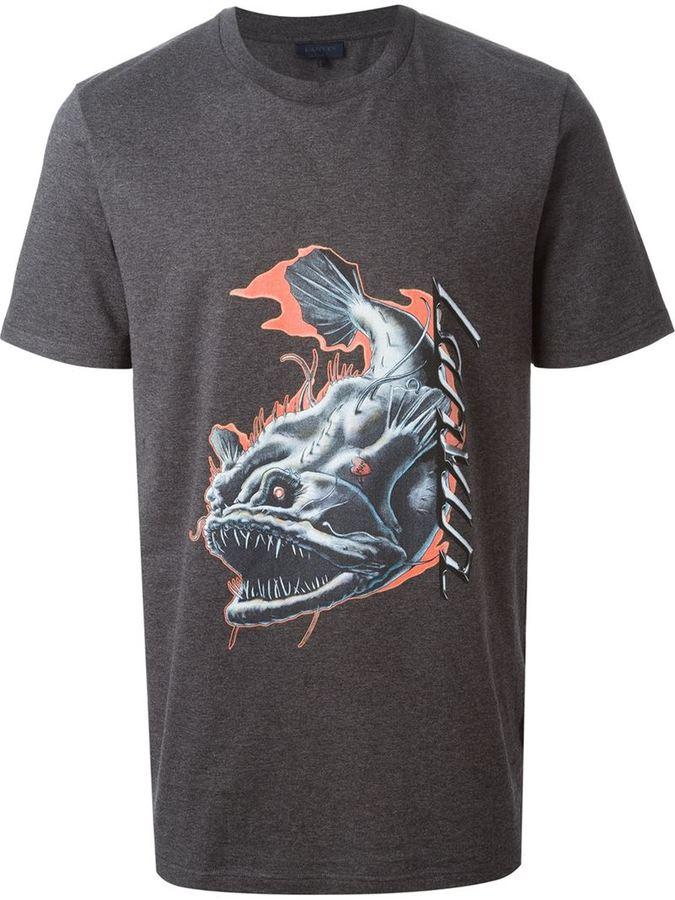 Lanvin sharp fish print t shirt where to buy how to wear for Fish print shirt